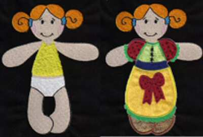 Paper Dolls Machine Embroidery Designs