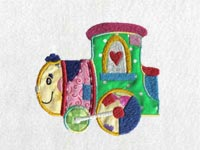 Applique Patchwork Train Machine Embroidery Designs