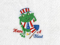 Patriotic Froggies Machine Embroidery Designs