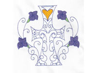 Partially Filled Easter Crosses Machine Embroidery Designs
