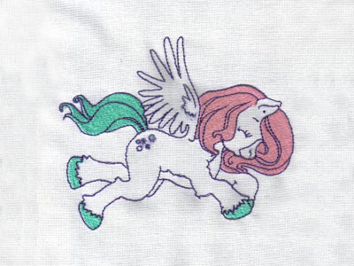 Partially Filled Pegasus Machine Embroidery Designs