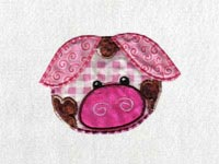 Applique Pigs and Pups Machine Embroidery Designs