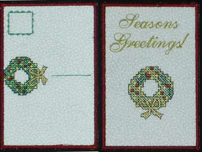 Holiday Post Cards Machine Embroidery Designs