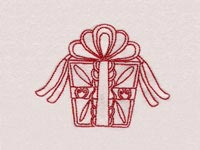 Red Decorative Christmas Time Machine Embroidery Designs