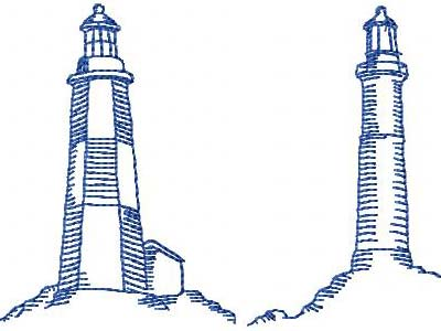 Embroidery Designs - 401-LIGHTHOUSE-1 - 5X7 HOOP