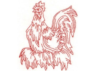 Fancy Curly Chicken Rooster Machine Embroidery Designs - Free