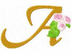 Rose Alphabet Machine Embroidery Designs