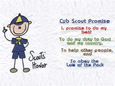 Cub Scouts Machine Embroidery Designs