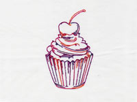 Fancy RW Cupcakes Machine Embroidery Designs