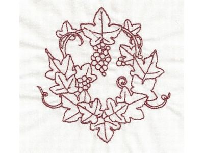 RW Grapes and Leaves Machine Embroidery Designs