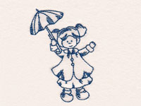 RW Rainy Day Country Girls Machine Embroidery Designs