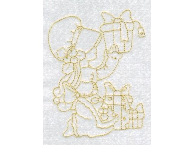 RW Sunbonnet Christmas Machine Embroidery Designs