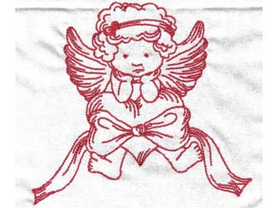 Large Hoop Valentine Angels Available In .ART .PES .VIP .PCS .JEF .SEW For  Most Embroidery Machines Including Brother Embroidery Machines, Janome  Embroidery ...