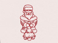 Redwork Vintage Santas Machine Embroidery Designs