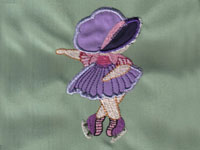 Sunbonnet Skaters Machine Embroidery Designs