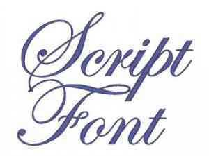 Script Font Machine Embroidery Designs