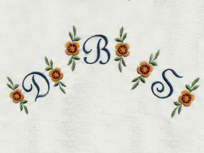 Script Flower Monogram Machine Embroidery Designs