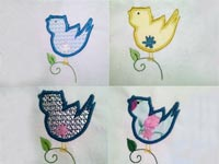 Simple Birds Machine Embroidery Designs