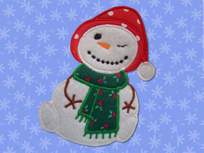 Sticky Snowmen Applique Machine Embroidery Designs