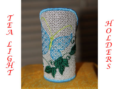 St Patricks Day Tea Light Holders Machine Embroidery Designs