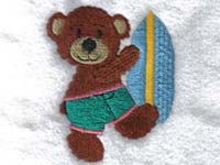 Summer Bears Machine Embroidery Designs