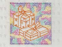 Trapunto Christmas Blocks Machine Embroidery Designs