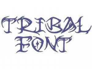 Machine Embroidery Designs - Tribal Font Set