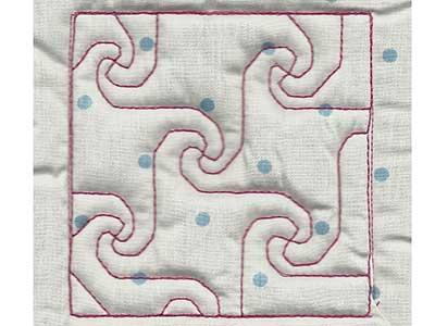 Machine Embroidery Designs Trapunto Quilt Blocks 4 Set