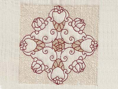 Trapunto Rose Blocks Machine Embroidery Designs
