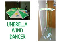 Umbrella Rain Dancers Machine Embroidery Designs