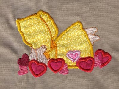 Valentine Sunbonnets Machine Embroidery Designs