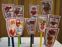 Valentine Pencil Toppers Machine Embroidery Designs