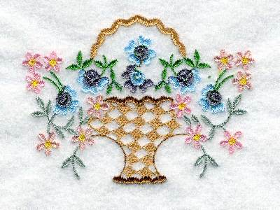 Vintage Baskets 2 Machine Embroidery Designs
