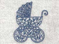 Vintage Baby Prams Machine Embroidery Designs