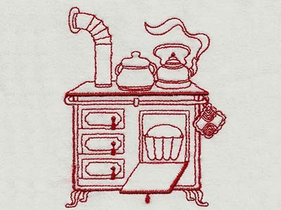 Vintage Kitchen 1 Machine Embroidery Designs
