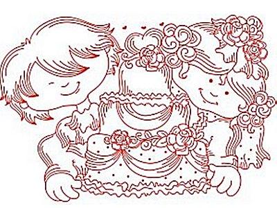 Vintage Wedding on Machine Embroidery Designs   Dd Vintage Wedding Set
