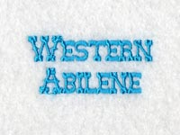 Western Abilene Font Machine Embroidery Designs