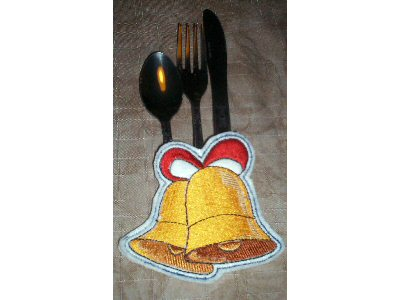 Holiday Silverware Holders Embroidery Machine Design