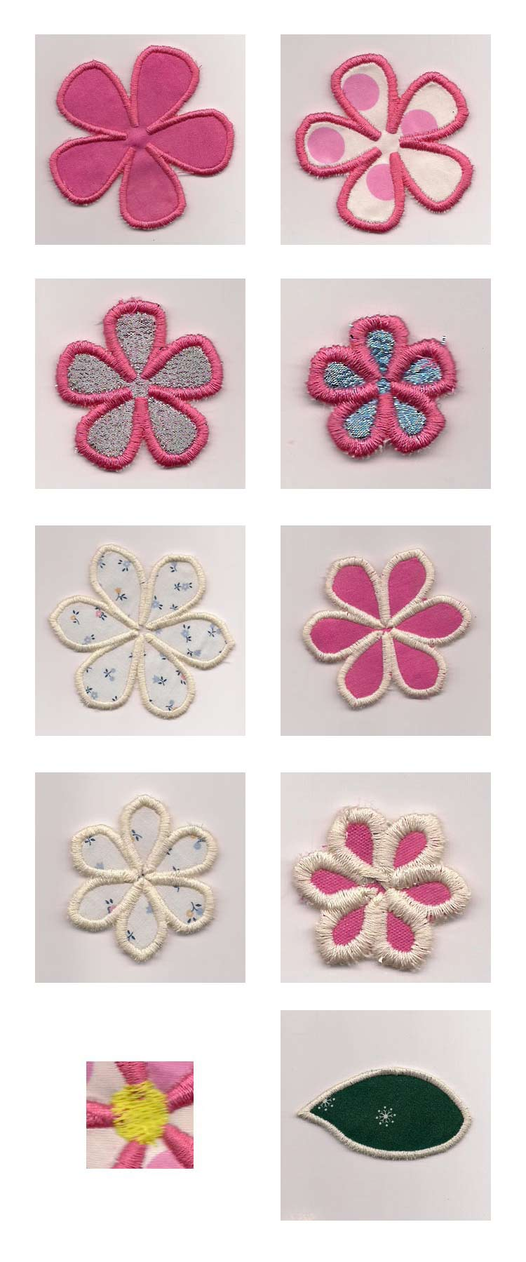 3D Flowers Embroidery Machine Design Details