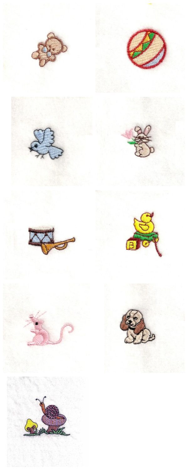 MINIATURE EMBROIDERY DESIGNS