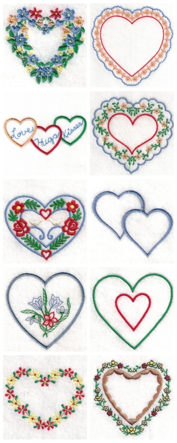 Hands of love embroidery designs free patterns
