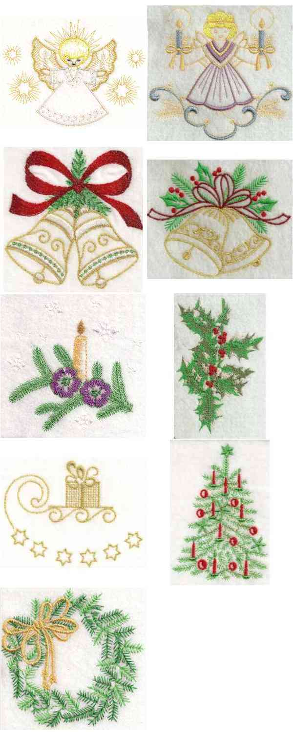 A Bonnie Christmas Embroidery Machine Design Details