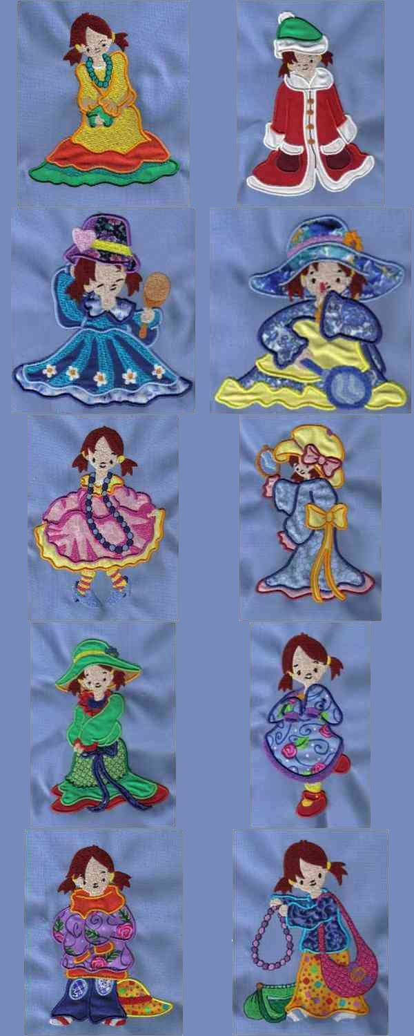 Applique When I Grow Up Embroidery Machine Design Details