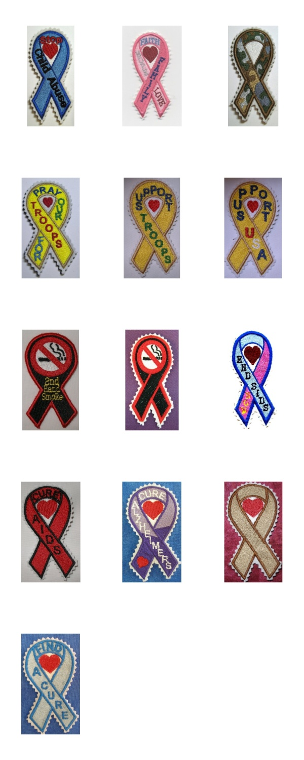 Awareness Ribbons 2 Machine Embroidery Designs Embroidery Machine Design Details