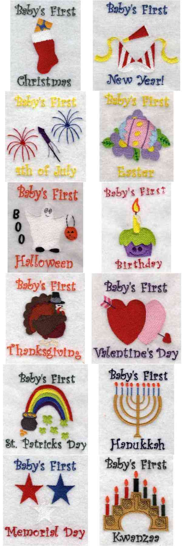 Babies First Embroidery Machine Design Details