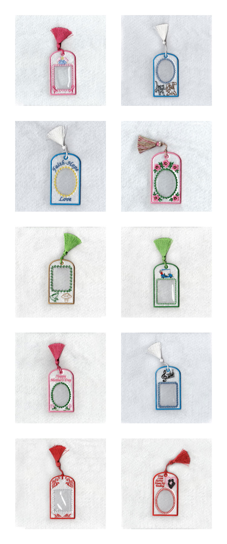 Bookmark Picture Frames Embroidery Machine Design Details