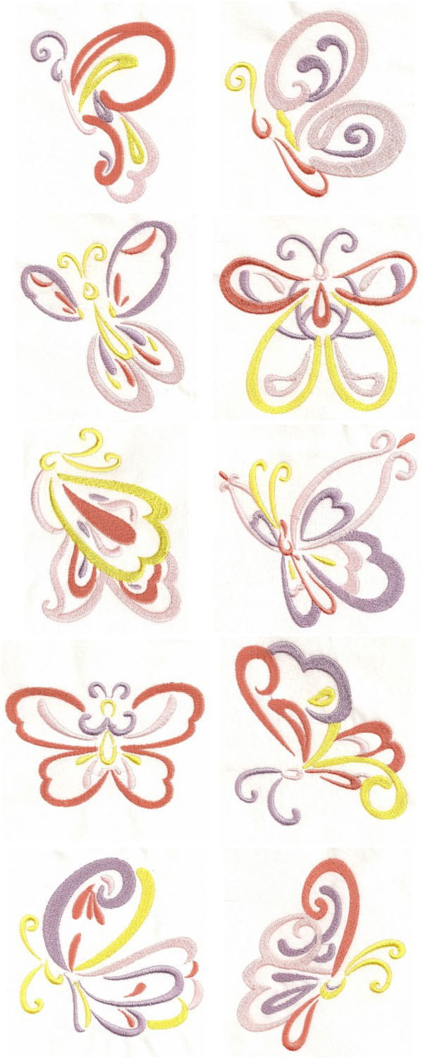 machine embroidery butterfly designs