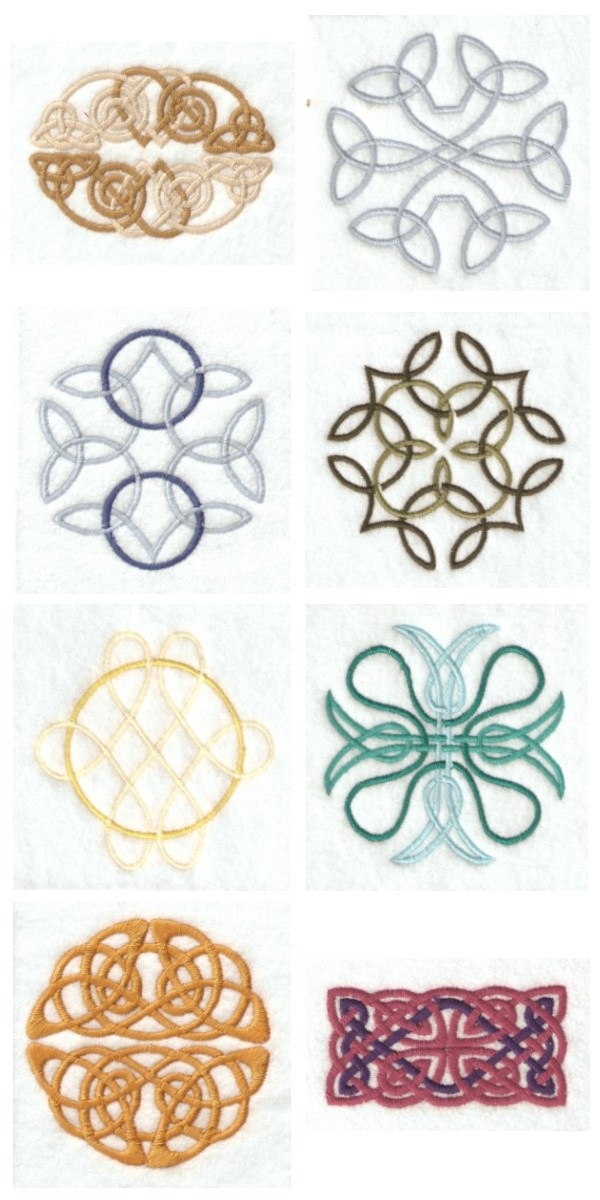 Celtic Knots Embroidery Machine Design Details