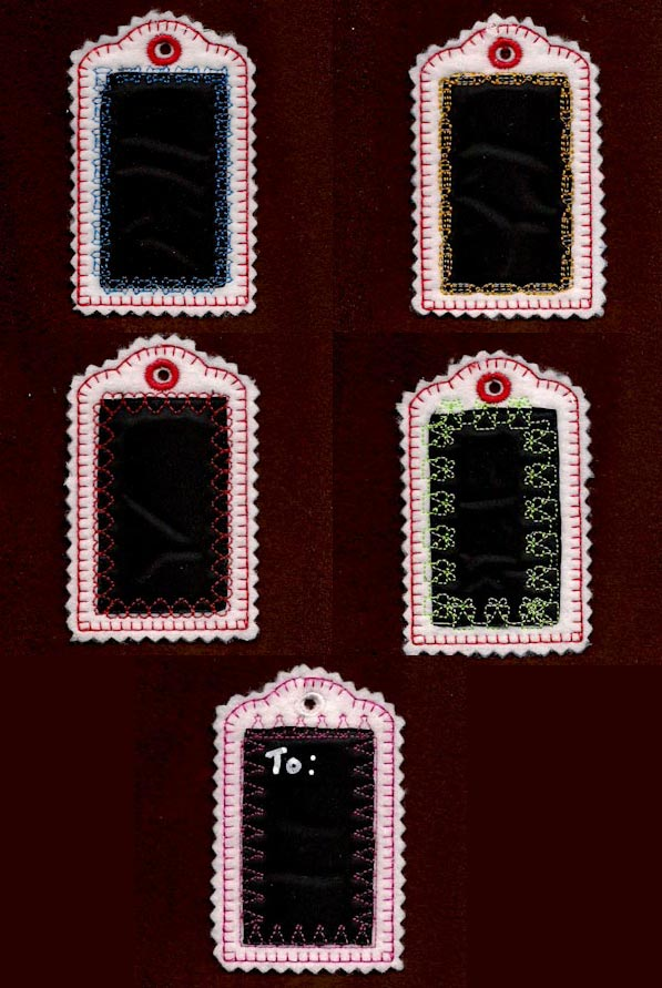 Chalk Board Gift Tags Embroidery Machine Design Details