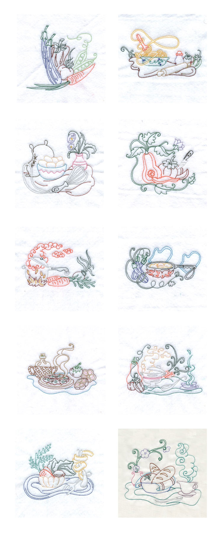 Chef Towels Embroidery Machine Design Details